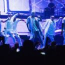 Justin Bieber performs on stage during opening night of the 'Purpose World Tour' at KeyArena on March 9, 2016 in Seattle, Washington