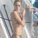Heidi Klum Wearing Bikini In St Barts