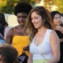 Minka Kelly at Harry Styles Concert in Inglewood