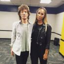 Mick Jagger & Leona Lewis backstage at Taylor Swift show in Nashville - 27 September 2015
