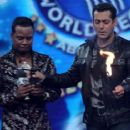 Salman Khan on the sets of Guinness World Records
