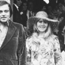 July 31, 1970 - Roberto, Julian and Cynthia posing for the press on the steps of the Kensington Register Office.