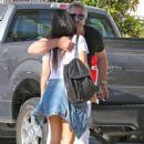 Kourtney Kardashian stops by the La Cienega Design Quarter to shop for her home in Beverly Hills, California on September 2, 2014