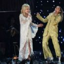 Dolly Parton and Miley Cyrus At The 61st Annual Grammy Awards - 454 x 303