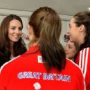 Kate Middleton and Prince Harry meeting with Olympic medal winners in London (August 9)