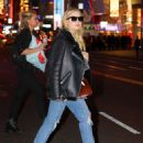 Ashley Benson in Ripped Jeans out and about in Times Square - 454 x 588