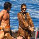 Eva Mendes And George Gargurevich On Dolce & Gabbana Yacht In Italy - 454 x 303