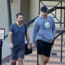 Joe Manganiello hits up a gym in Los Angeles, California for a workout on December 26, 2013