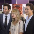 "Eli Roth, Melanie Laurent and Lawrence Bender attend a screening of ""Inglourious Basterds"" at the Regal Green Hills on August 20, 2009 in Nashville, Tennessee."