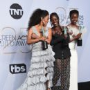 Angela Bassett, Lupita Nyong'o, and Danai Gurira At The 25th Annual Screen Actors Guild Awards (2019) - 439 x 600
