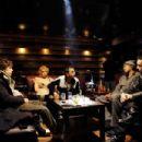 Sam Gold (Jesse Eisenberg), Rachel Apfel (Ari Graynor), Jackie Solomon (Danny A. Abeckaser), Ephraim (Q-Tip) and Mr. Maxim (David Vadim) in Holy Rollers - 454 x 302