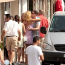 Petra Nemcova Kissing Bader Jafar In The Street In Saint Tropez (07.26.2008)