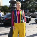 Iskra Lawrence – Arrives at Elie Saab Fashion Show in Paris