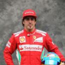Fernando Alonso of Spain and Ferrari is interviewed by the media during previews to the Australian Formula One Grand Prix at the Albert Park circuit on March 15, 2012 in Melbourne, Australia