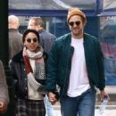 Robert Pattinson and FKA twigs hold hands while taking a romantic stroll on Thursday (October 16) in Brussels, Belgium