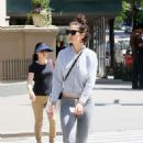 Katie Holmes in Grey Tights out in New York - 454 x 681