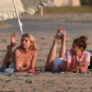Stella Maxwell and Taylor Hill – Photoshoot for Victoria's Secret in Venice Beach - 454 x 303