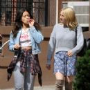 Brittany Snow DeWanda Wise and Gina Rodriguez – On the Set of 'Someone Great' in NY - 454 x 538