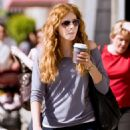 Rachelle Lefevre Grabs A Coffee Before Shopping In Various Stores At Abbot Kinney In Venice, 14 February 2010
