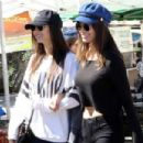 Victoria Justice and Madison Reed at Farmers Market in Studio City
