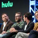 Eliza Coupe – 'Future Man' TV Show Panel at 2017 TCA Summer Press Tour in LA - 454 x 323