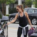 Minka Kelly In Tights At A Gym In West Hollywood