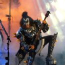 """Legendary Rock band KISS perform live at the """"Jimmy Kimmel Live"""" outdoor arena in Los Angeles."""