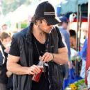 Ian Somerhalder out shopping at the Farmers Market in Studio City, California on January 4, 2015