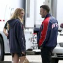 """Blake Lively and Ben Affleck on the set of """"The Town"""" in Boston, 1. 9. 2009."""