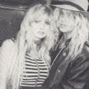 Bret Michaels and Susie Owens backstage at a Poison concert 1988