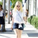 'Night Movies' actress Dakota Fanning does some solo shopping in Beverly Hills, California on August 22, 2013