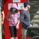 Scarlett Johansson In Leggings Leaving Fitness Factory In West Hollywood, October 10 2009