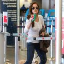 Minka Kelly: prepares to depart LAX