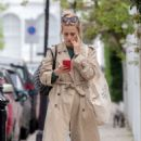 Laura Bailey in Long Coat out in London - 454 x 710