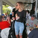 Khloe Kardashian in Jeans out for lunch in Los Angeles