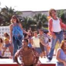 Kelly (Kelly Clarkson), Justin (Justin Guarini) and their fellow celebrants sing and dance during the final party/dance of a memorable Spring Break.