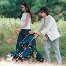 Luciana Gimenez, Mick Jagger & baby son Lucas in Richmond Park - 2000