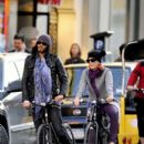 Russell Brand and Katy Perry Go for a Bike Ride in New York City