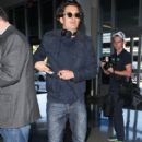 Orlando Bloom departing on a flight at LAX airport in Los Angeles, California on April 7, 2014