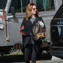 Ashley Tisdale in Black Leggings Out in Los Angeles - 454 x 634