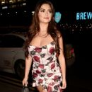 Demi Rose in Mini Dress – Arrives at Peter Street Kitchen in Manchester - 454 x 794