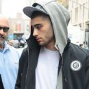 Zayn Malik spotted leaving his girlfriend apartment in New York City, New York on April 1, 2016