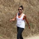 Lea Michele in Tights hike in Los Angeles - 454 x 680