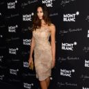 Madalina Ghenea wears Alberta Ferretti - Montblanc Celebrates 90 years of Meisterstuck - 432 x 594