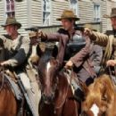 Scott Caan, Colin Farrell and Gabriel Macht in Warner Brothers' American Outlaws - 2001