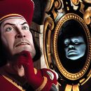 Farquaad (John Lithgow) asks the magic mirror how he can become King in Dreamworks' Shrek - 2001