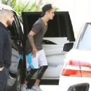 Justin Bieber is spotted at Barneys New York in Beverly Hills, California on May 24, 2015