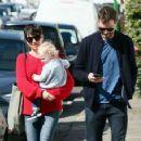 Amelia Warner and Jamie Dornan out in London (April 7, 2015)