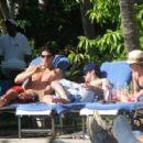 Hilary Duff In Bikini At The Pool In Caribbean