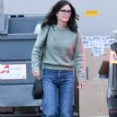 Courteney Cox at the Celine store in Los Angeles